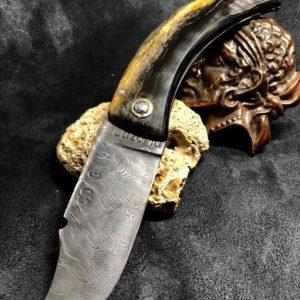 Couteaux lame damassée